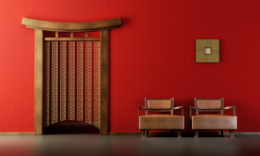 3d rendering of the Chinese lounge room